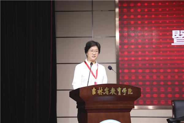 10工会副主席张亚杰作工会工作报告.JPG